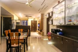 Mr. Kishan InduFortuneCity: modern Dining room by Ghar Ek Sapna Interiors