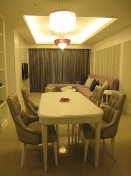 新店張公館:  餐廳 by Joy Full Interior Designer 佐輔室內裝修