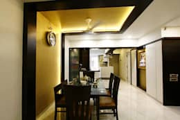 Mr.Ram & Mrs.Lajja Sanghvi: modern Dining room by PSQUAREDESIGNS