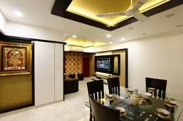 Mr.Ram & Mrs.Lajja Sanghvi: modern Dining room by PSQUAREDESIGNS
