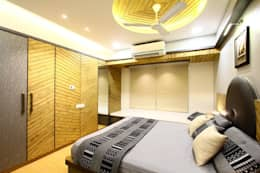 MR.KISHOR BHANUSHALI: modern Bedroom by PSQUAREDESIGNS