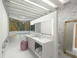 Banheiro do casal: Banheiro  por Grupo DH arquitetura