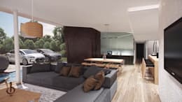 Interior: Estar comedor: Livings de estilo moderno por síncresis arquitectos