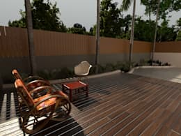 Backyard sitout: modern Garden by Space Alchemists