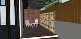 Outdoor Sitout abbuting living.: modern Garden by Space Alchemists