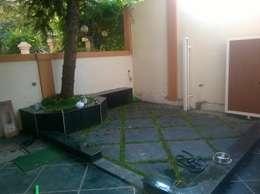 Proposed Interior work for Mr. Agawne.: modern Garden by Space Alchemists