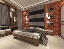 2bhk Flat Interior @Merlin Residency Rajarhat Kolkata : modern Bedroom by Creazione Interiors