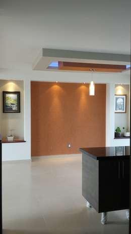 Salas / recibidores de estilo moderno por DEC Arquitectos