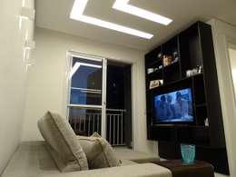 Sala Apartamento no Taquaral: Salas de estar modernas por Ambiento Arquitetura