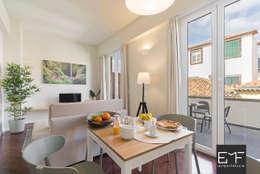 Apartamentos Downtown: Salas de jantar modernas por EMF arquitetura