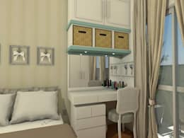 Quarto do apartamento Retrô: Quartos  por AT arquitetos