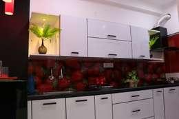 2BHK - Sai Subhashini Towers , Masjidbanda, Kondapur , Hyderabad: asian Kitchen by Enrich Interiors & Decors