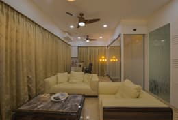 Mr. Shah's Residence : To create a Luxurious Lifestyle Design: modern Living room by Banaji & Associates