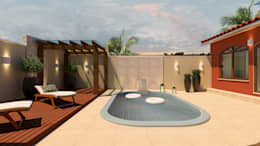 مسبح تنفيذ Adriana Costa Arquitetura