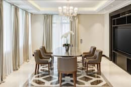 2bhk with open kitchen: classic Dining room by Rebel Designs