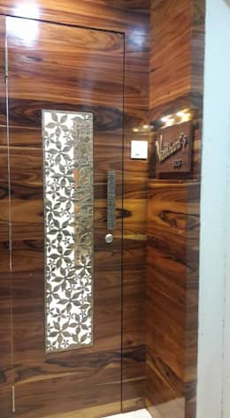 2bhk Residential project  :  Wooden doors by Interiqo