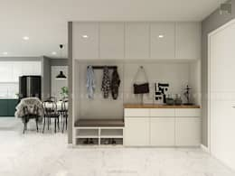 Nội thất căn hộ Vinhomes Ba Son - ICON INTERIOR:  Cửa bên trong by ICON INTERIOR