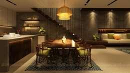 Cầu Giấy House:  Phòng ăn by Văn Phòng Kiến Trúc Một Nhà