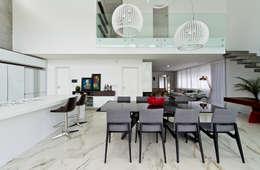 Espaço gourmet: Salas de jantar minimalistas por Espaço do Traço arquitetura