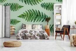 GREEN FERN IN THE BEDROOM: scandinavian Bedroom by Pixers