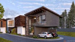Casa Tepoya: Casas de campo de estilo  por C8 | ARQUITECTOS