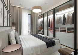 50GR Mimarlık – Cadde varlık_2+1 örnek daire : modern tarz Yatak Odası
