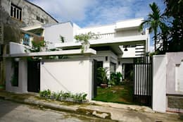 Thắm Đượm Nét Quê Trong Thiết Kế Nhà Phố 2 Tầng Ở Đà Nẵng:  Nhà gia đình by Công ty TNHH Xây Dựng TM – DV Song Phát