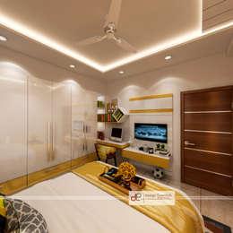 DDA flat at Vasant Kunj: minimalistic Nursery/kid's room by Design Essentials
