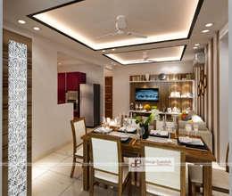 DDA flat at Vasant Kunj: minimalistic Dining room by Design Essentials