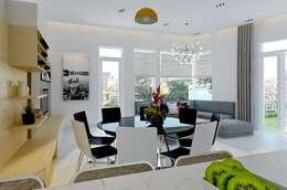 Đồ nội thất trong ngôi nhà đều được lựa chọn phù hợp với tuổi của gia chủ.:  Phòng ăn by Công ty TNHH Thiết Kế Xây Dựng Song Phát