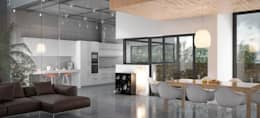 Interior Módulo 1: Salones de estilo escandinavo de AVANTUM