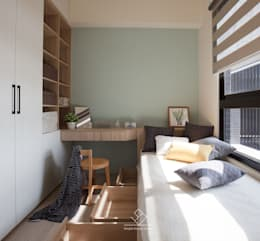 客臥規劃:  臥室 by 極簡室內設計
