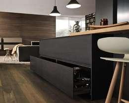 Proyecto de diseño interior y mobiliario: Cocinas integrales de estilo  por Felipe Lara &  Cía