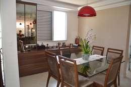 O jantar: Salas de jantar campestres por Solange Figueiredo - ALLS Arquitetura e engenharia