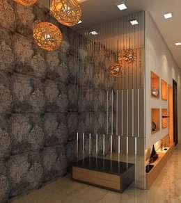 3BHK,Manish Nagar, Nagpur: modern Living room by Form & Function