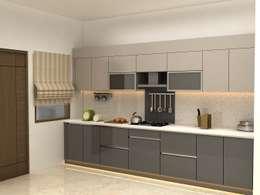 3BHK,Manish Nagar, Nagpur: modern Kitchen by Form & Function