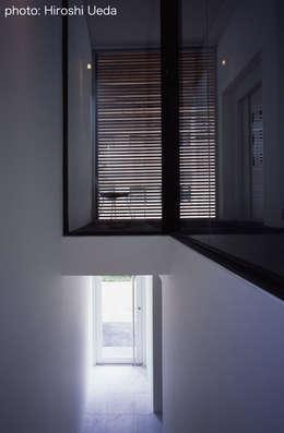 東京23区でプールのある家: 石川淳建築設計事務所が手掛けた廊下 & 玄関です。