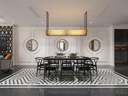 Thiết kế nội thất Vinhomes Central Park - Phong cách Đông Dương:  Phòng ăn by ICON INTERIOR