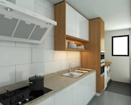 Stonor Luxury Condo: modern Kitchen by inDfinity Design (M) SDN BHD