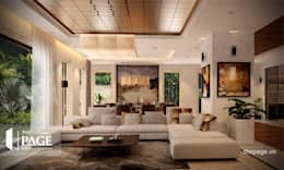 VILLA VŨNG TÀU:  Phòng khách by The Page Interior & Design