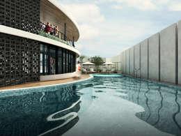 Club House :  Kolam Renang by Atelier BAOU+