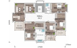 План второго этажа:  в . Автор – LUMI POLAR