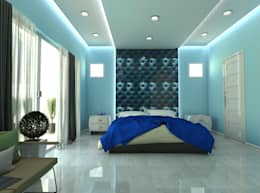 Blue Room : mediterranean Bedroom by Constant Integrated Project Development Corp.