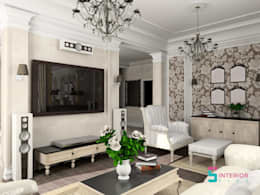 Living Room Interior Design: asian Living room by Interior Five