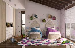 Casa en el Bosque - BCA Taller de Diseño: Recámaras infantiles de estilo moderno por BCA taller de diseño