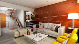 Proyecto JJ: Salas / recibidores de estilo moderno por Luis Escobar Interiorismo
