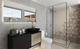 Proyecto ED: Baños de estilo moderno por Luis Escobar Interiorismo