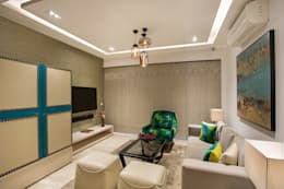 CHATTARPUR FARM HOUSE, NEW DELHI: eclectic Living room by Total Interiors Solutions Pvt. ltd.