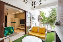 CHATTARPUR FARM HOUSE, NEW DELHI:  Garden Shed by Total Interiors Solutions Pvt. ltd.