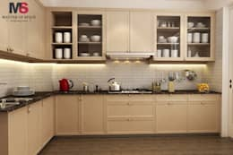Gurgaon one: modern Kitchen by Matter Of Space Pvt. Ltd.